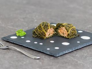 Recette : Chou vert farci & crème citron