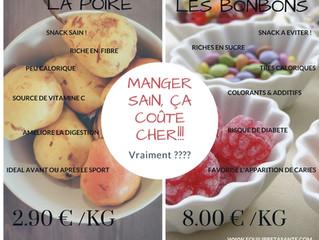 Manger sain, ça coûte cher !!!