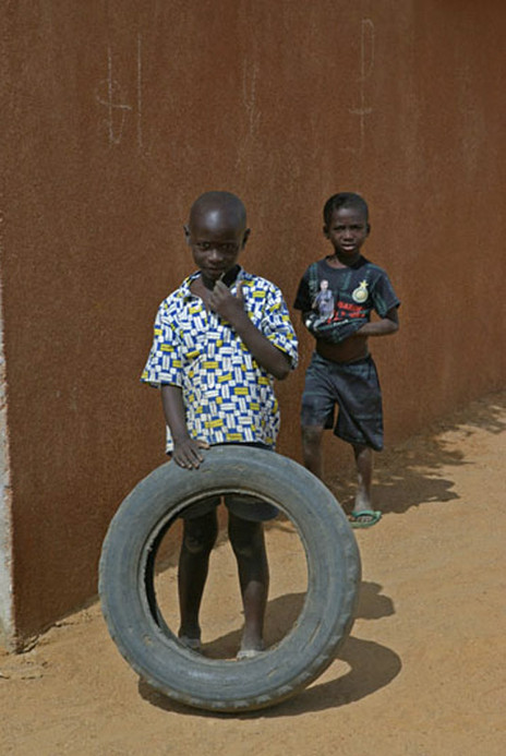 Boys and Tire