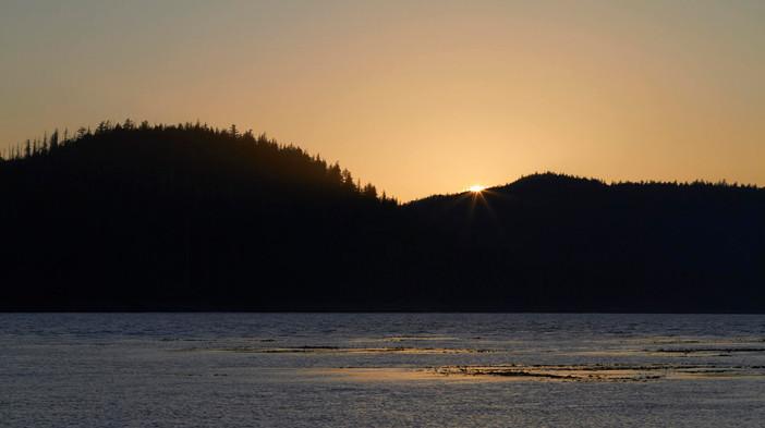 Sunset in Haida Gwaii