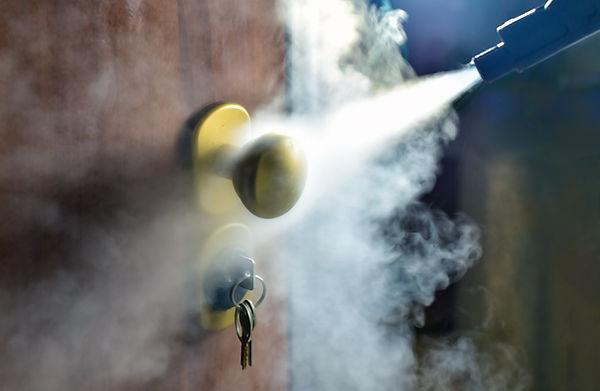 steam processing of keys and door handle