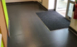 rubber flooring installed in health care centre in bristol