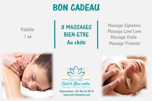 3 Massages Bien-Etre au choix