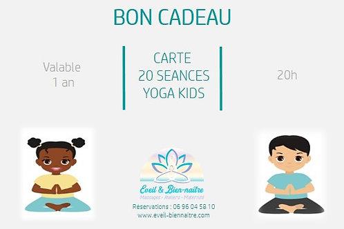 Carte 20 Séances Yoga Kids