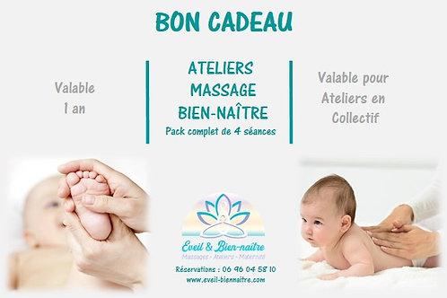 Ateliers Massage Bien-Naître Pack 4 séances en Collectif