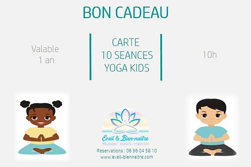 Carte 10 Séances Yoga Kids