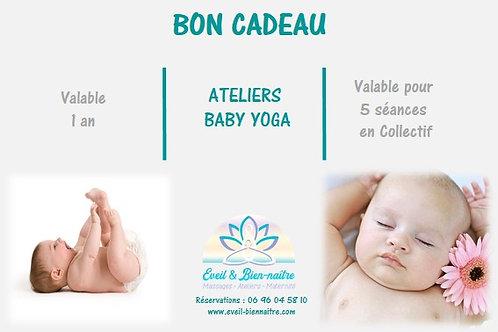 Ateliers Baby Yoga Pack 5 séances en Collectif