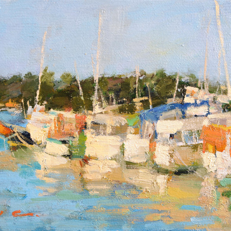 Boats at the Moss Landing Harbor