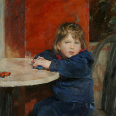 Little Girl with Toy Cars