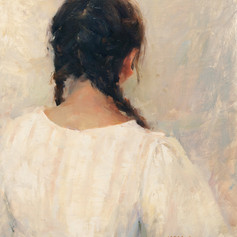 A Women Seen from Back