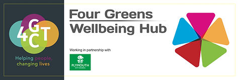 Four Greens Wellbeing hub main sign 2400