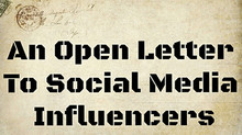 An Open Letter To Social Media Influencers