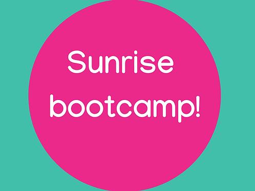 Sunrise bootcamp