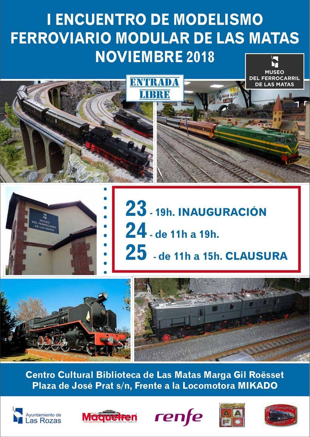 Información sobre el encuentro de modelismo ferroviario modular de Las Rozas