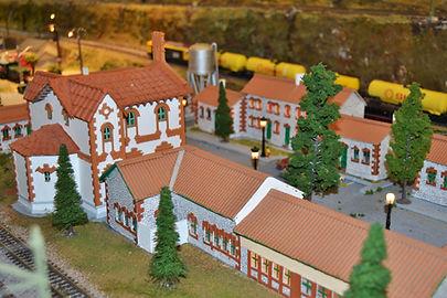 Maqueta del barrio ferroviario, expuesta en el Museo del Ferrocarril