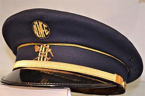 Gorra del personal del tren en el Museo del Ferrocarril