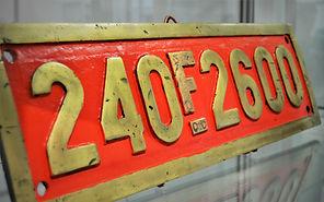 Matrícula de ferrocarril fuelizado del Museo del Ferrocarril