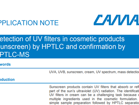 Detection of UV filters in cosmetic products (sunscreen) by HPTLC