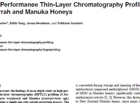 HPTLC profiling of Jarrah and Manuka honeys