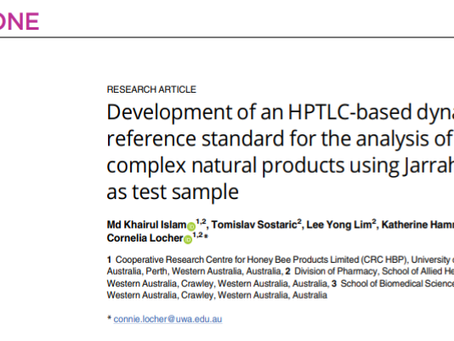 Interesting publication on the development of a HPTLC based dynamic reference standard