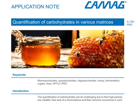 Quantification of carbohydrates in various matrices using the Automated HPTLC Pro