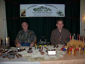 Bob Buckner and Michael Buckner at the Buckner Custom Calls Booth selling calls