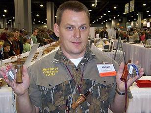 Michael Buckner with his 2009 NWTF Championship crow calls.
