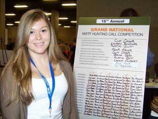 Lauren Buckner of Buckner Custom Calls wins 2014 NWTF Grand National Youth Callmaker of the year.