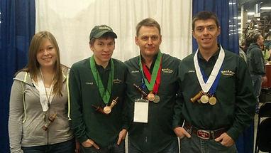Lauren Buckner, Casey Buckner, Michael Buckner, and Chris Buckner of Buckner Custom Calls