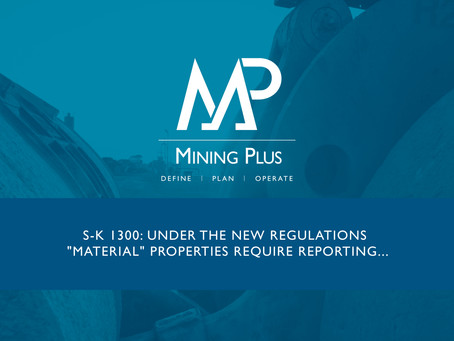 "S-K 1300: Under the new Regulations ""Material"" Properties Require Reporting..."