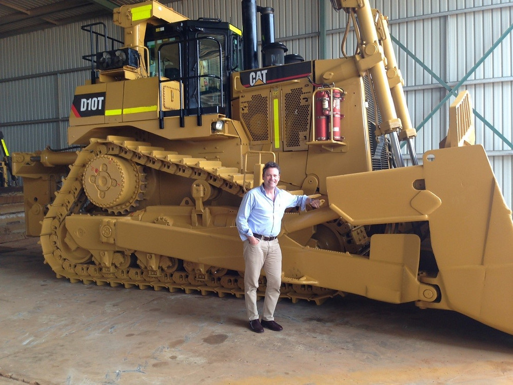 Mining Plus Geologist Andrew Bales eyeing off a very nice piece of kit during Diggers and Dealers 2016.