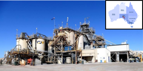 Barton's 650 ktpa CIP Processing Plant
