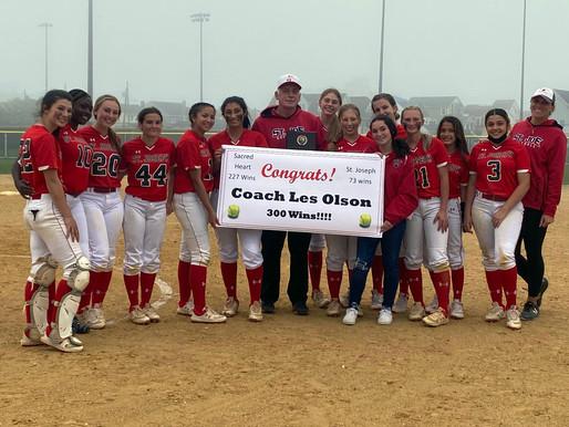 St. Joe's Olson earns 300th win