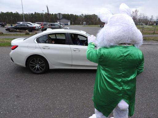 Drive-Thru Easter Bunny visit held April 2