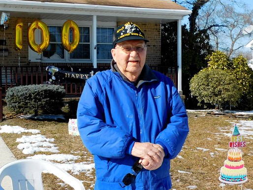 Local vet honored on 100th birthday