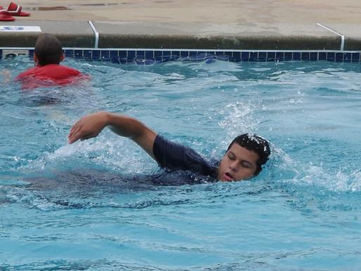 Cooling off at the Hammonton Swim Club