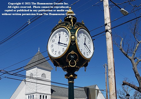 Town clock comes back to Hammonton