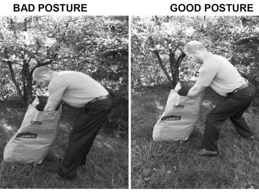 Dig into yardwork with proper posture