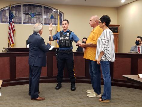 Carpo sworn in as police officer