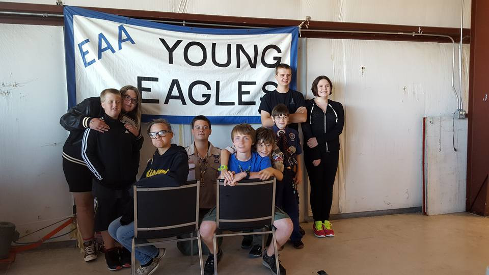 Scouts from Raymore Pack Troop and Crew 124 at Young Eagles event in Lee's Summit MO