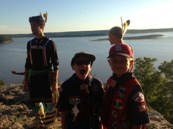 Webelos at the point