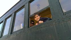 Riding the train at Belton Railroad