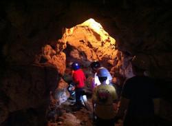 Boy Scout Troop 124 exploring a cave