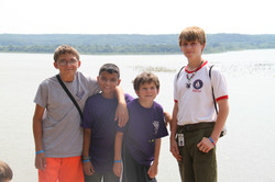 Troop 124 visiting the Point