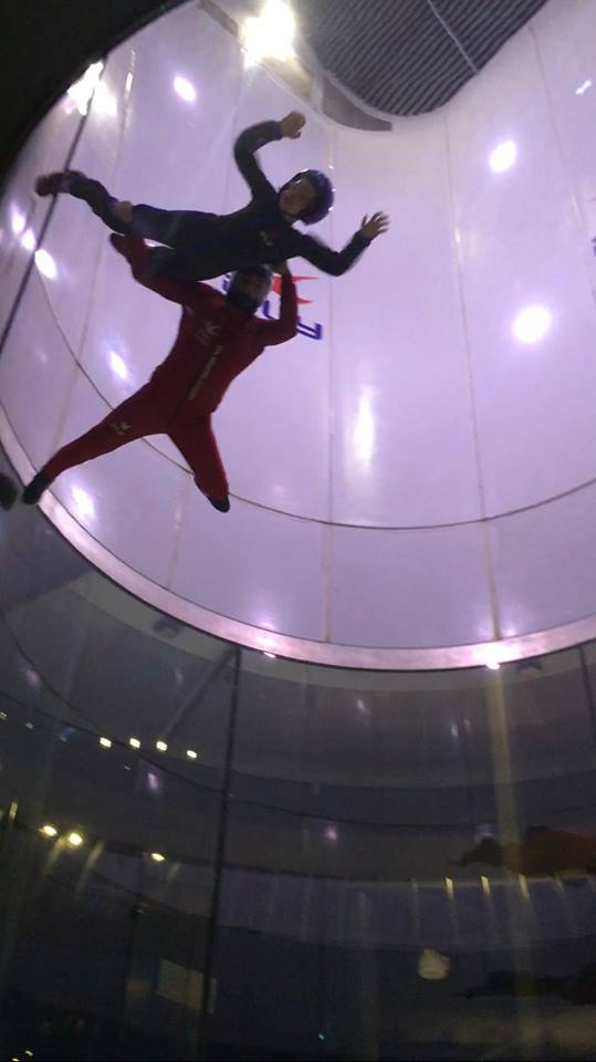 Cub Scout from Raymore Pack 124 skydiving at iFly KC
