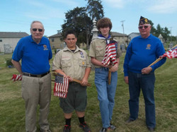 Memorial Day flags Raymore Cemetery