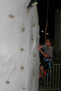 Troop 124 Climbing Rock Wall