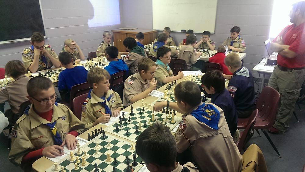 Kansas City Chess Club Merit Badge Session