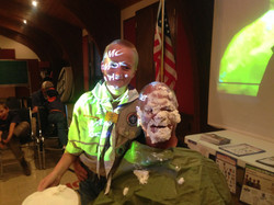 Pie in the face for popcorn