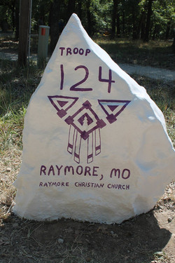 Troop 124 Rock at Bartle / Sawmill